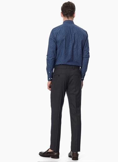 Network Slim Fit Uzun Kollu Gömlek İndigo